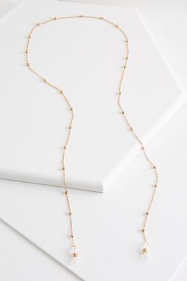gold bead eyeglass chain