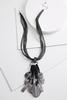 Lucite And Faux Suede Necklace