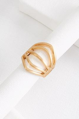 antique gold statement ring