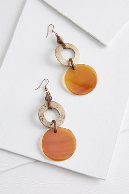 metallic lucite earrings