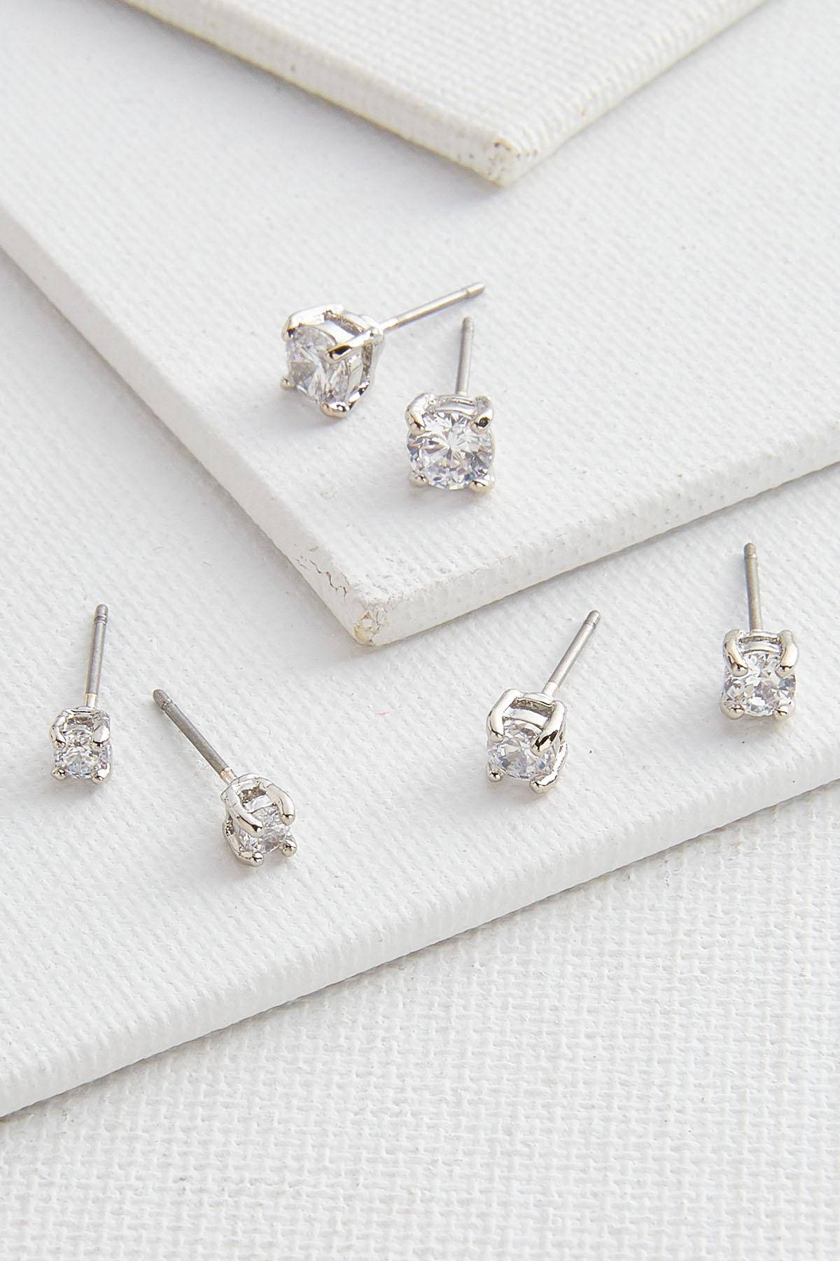 Sparkle Stud Earring Set