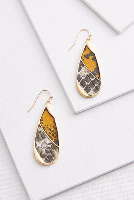textured tear shaped earrings