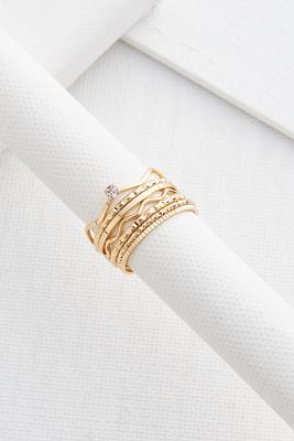 textured stacking ring set