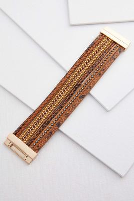 glitzy faux leather bracelet