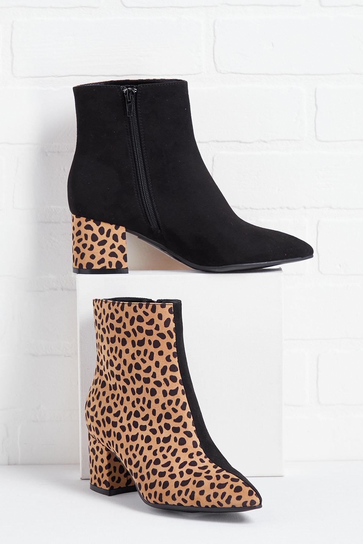 Split Personality Ankle Boots