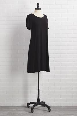 little black tshirt dress