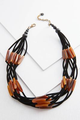 lucite bar cord necklace