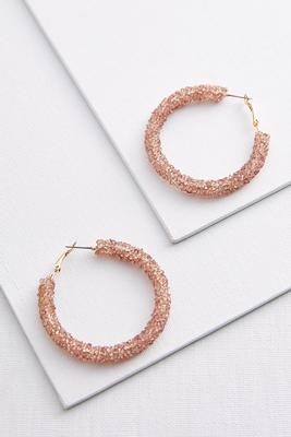 blushing crystal hoop earrings