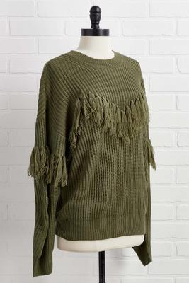 fringe or foes sweater