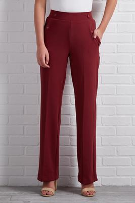 seeing red wide leg pants