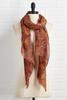 Fall Paisley Oblong Scarf