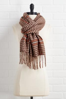 hazelnut latte oblong scarf