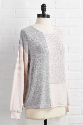 blushing leopard tunic