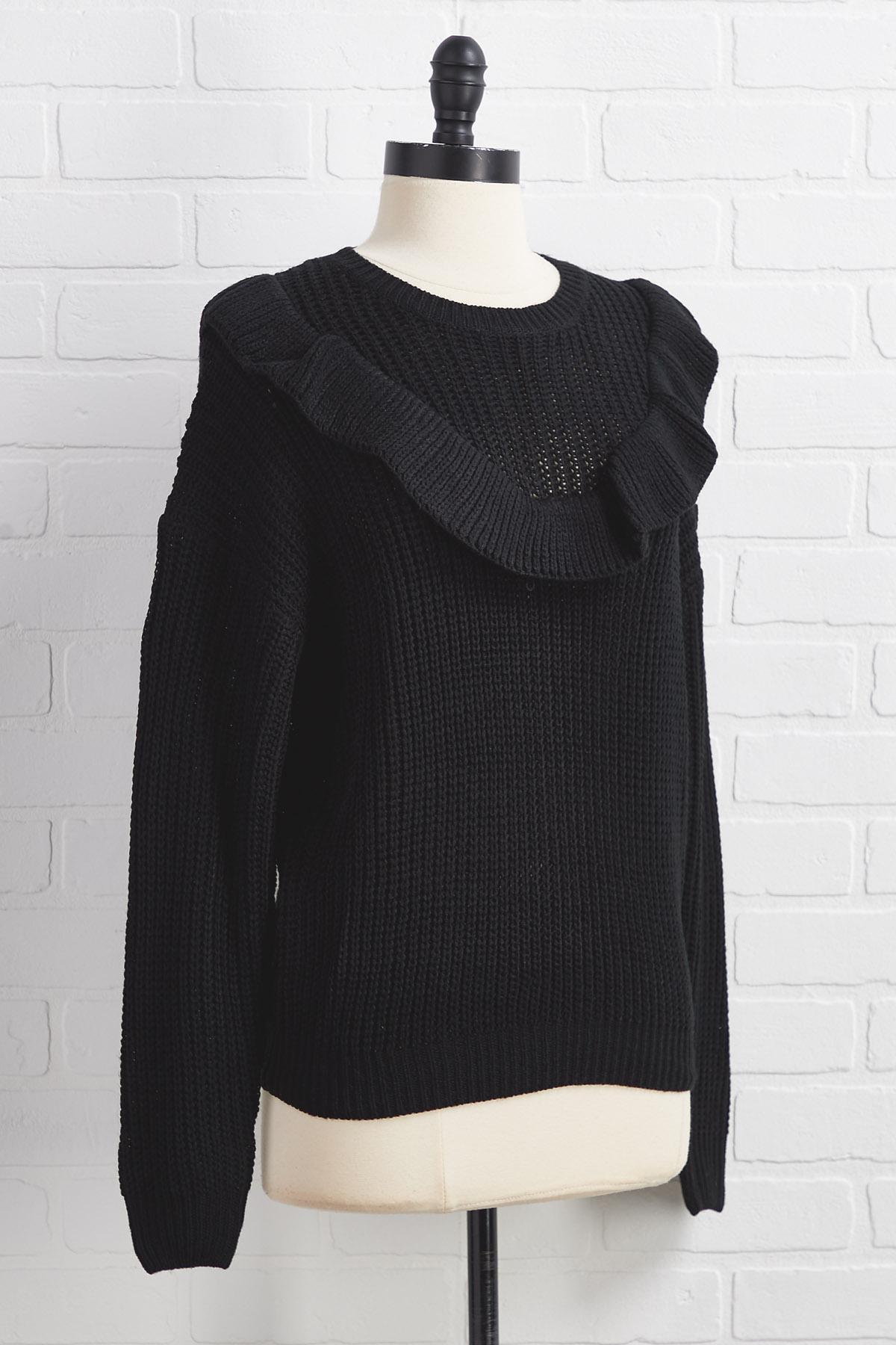 Midnight Winter Romance Sweater
