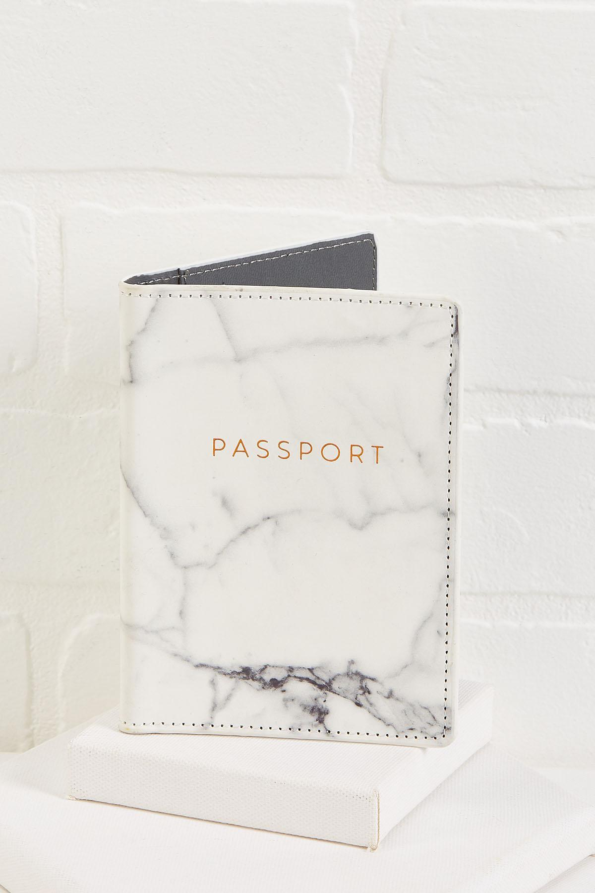 Marble Passport Case