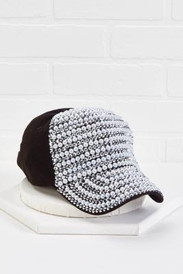 pearl embellished hat