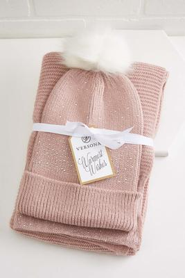 warm wishes hat scarf set