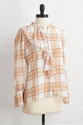 so plaid it`s fall top