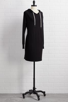 easy going hoodie dress