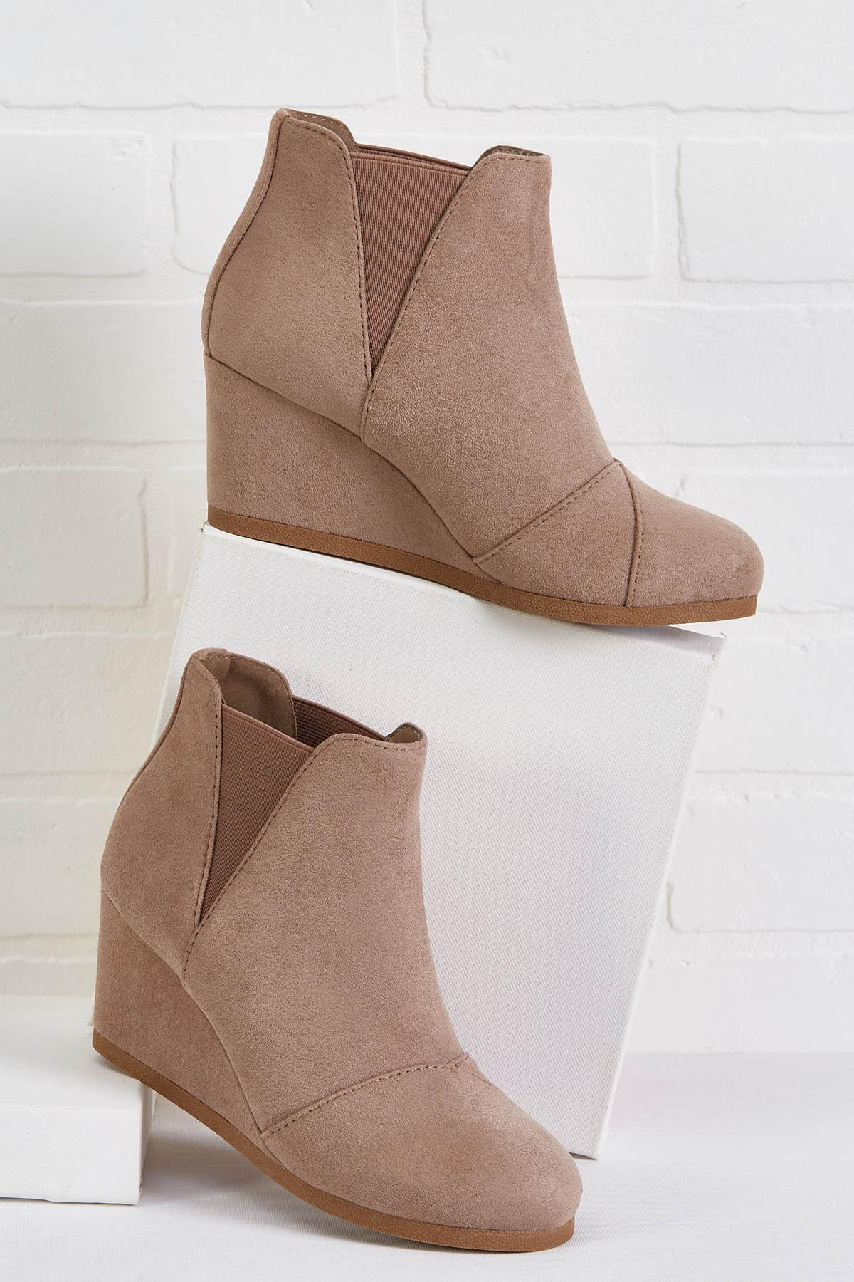 Wedge Way Is Wrong Booties