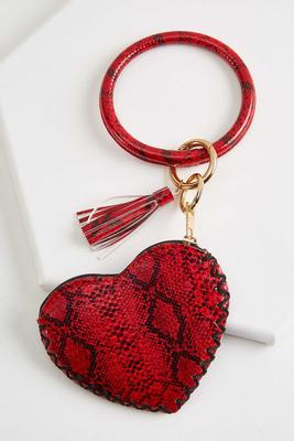 heart bangle keychain
