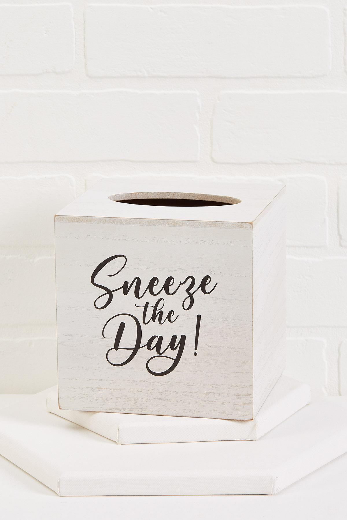 Sneeze The Day Tissue Box