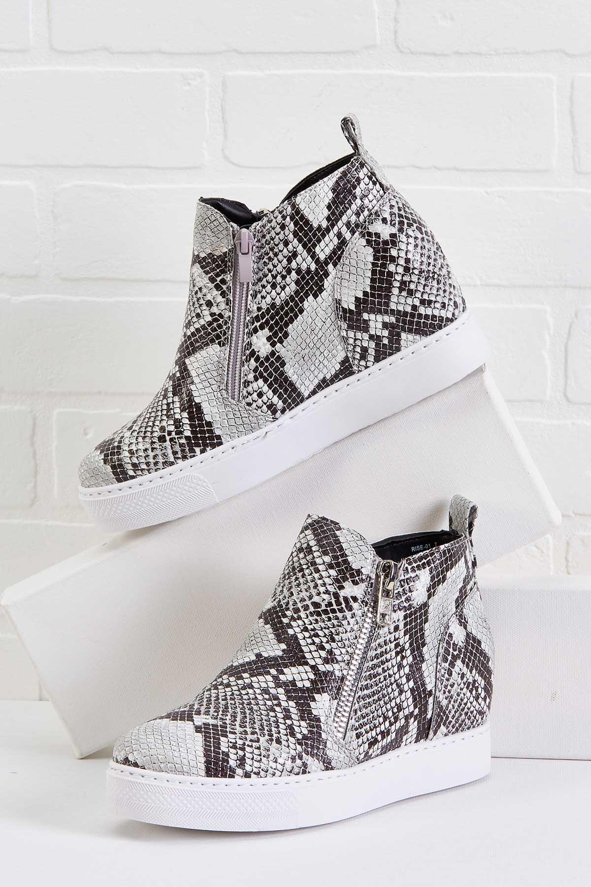 Big Mis- Snake Wedge Sneakers