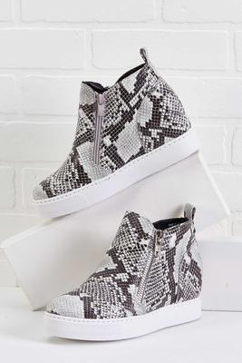 big mis-snake wedge sneakers
