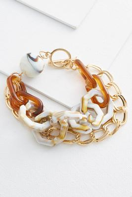 lucite toggle chain bracelet
