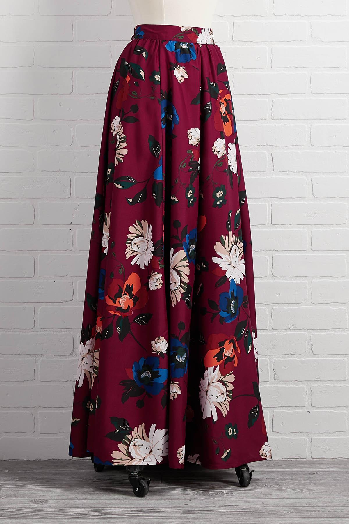 Easy Come Easy Floral Skirt