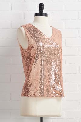 do as you`re rose gold top