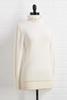 Ruffle Necks In Line Sweater