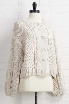 cozy cabin sweater