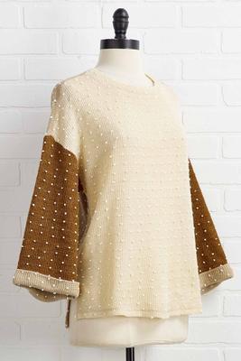 coffee n cream sweater