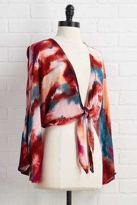 watercolor cardigan