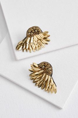 metal wing earrings