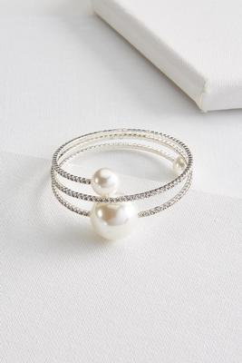 pearl rhinestone flex bracelet