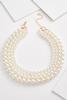 Layered Pearl Bib Necklace