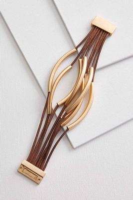curved metal bar bracelet