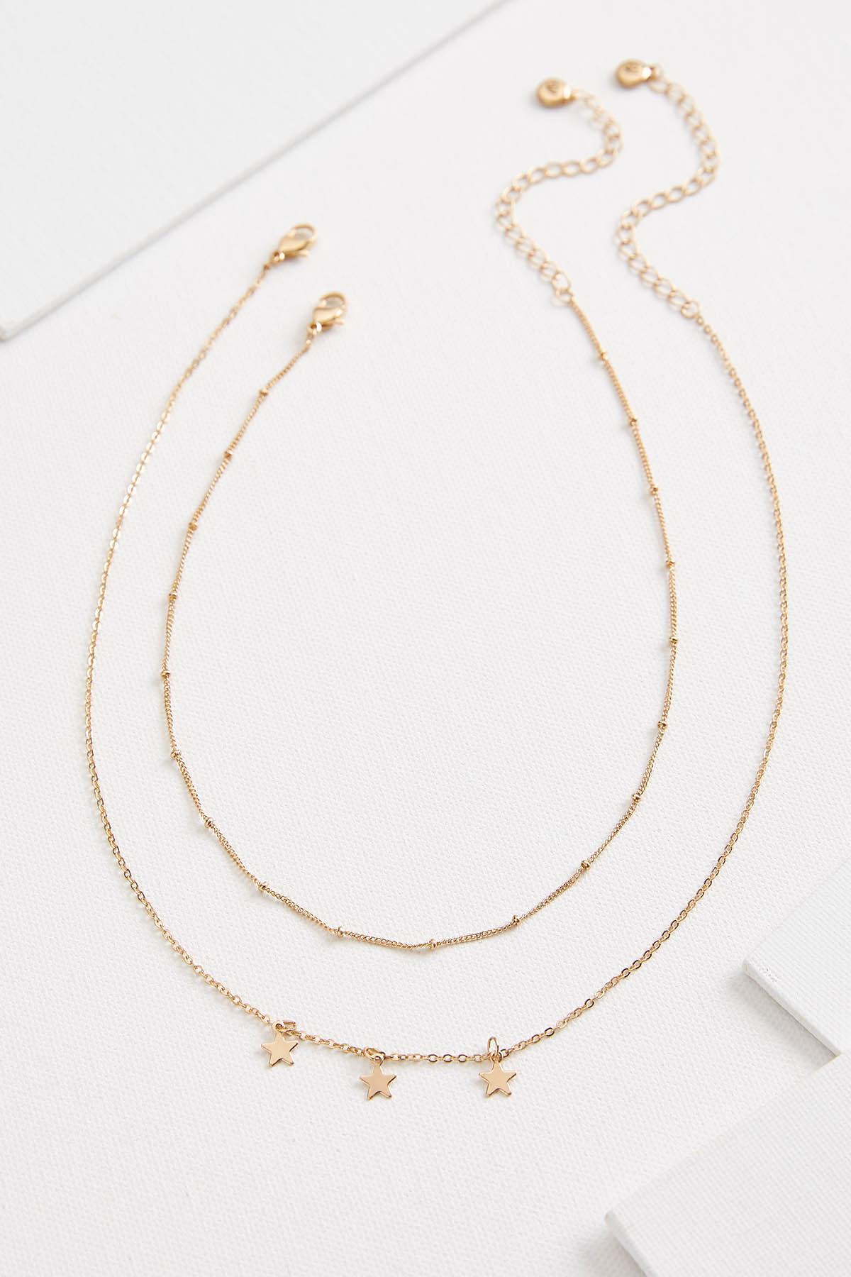 Layered Shaky Star Necklace