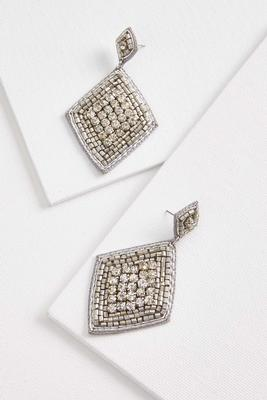 dazzling diamond earrings