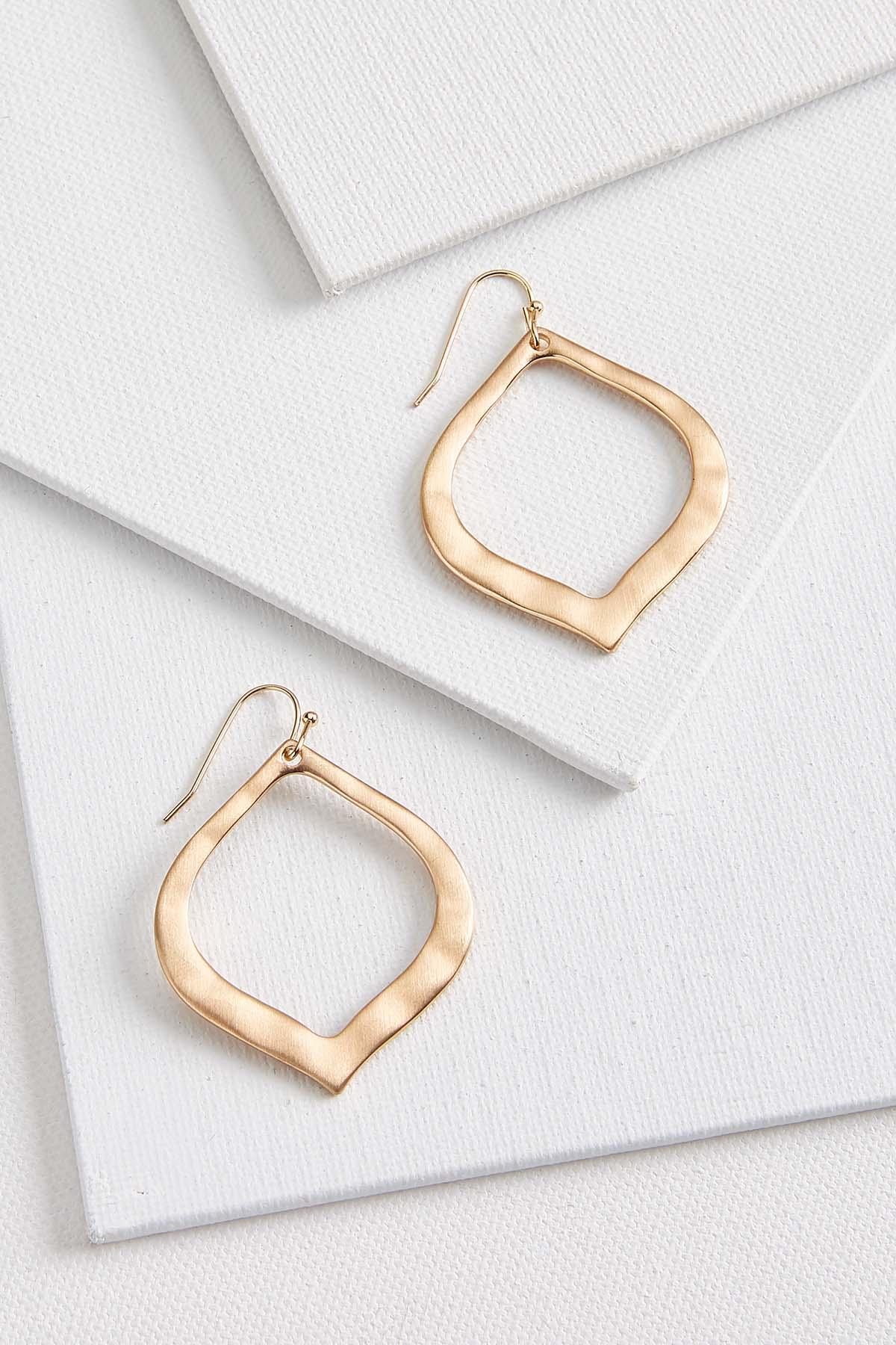 Hammered Medallion Earrings