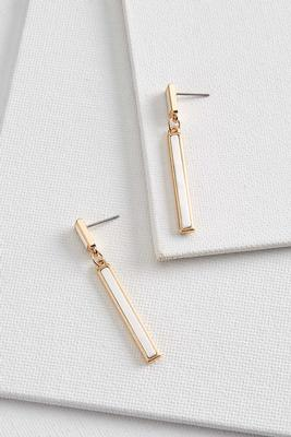 tiered rectangle earrings