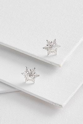 sparkly snowflake earrings