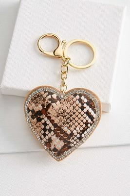 snake heart keychain