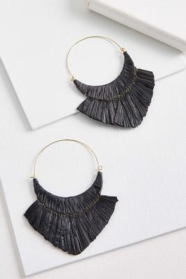 to the point tassel earrings
