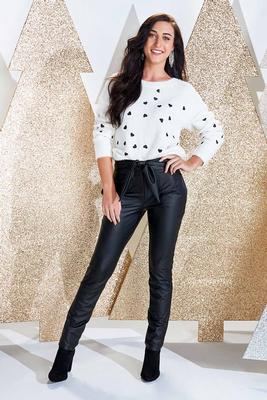 one two three faux leather leggings