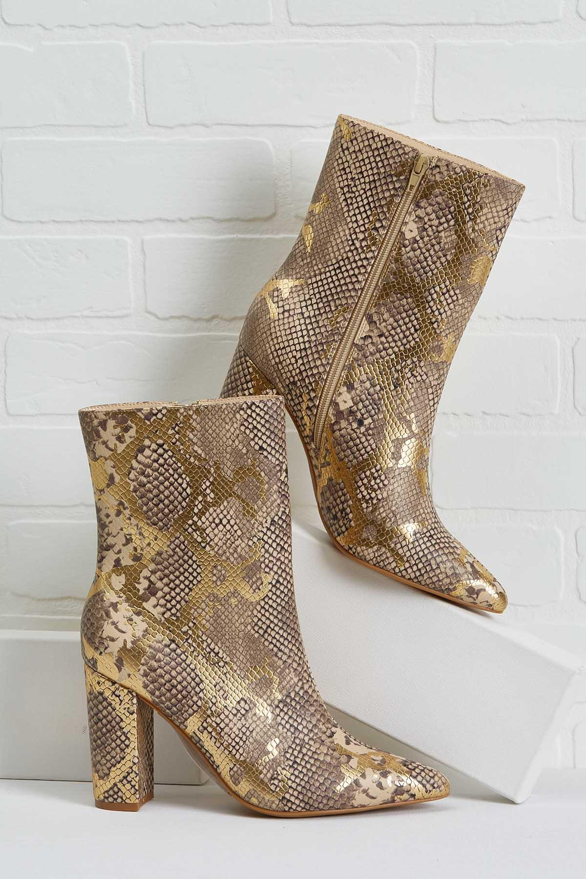 Shimmer And Snake Booties