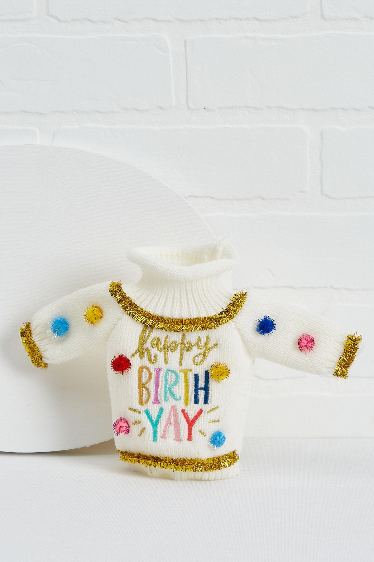 Birthday Sweater Bottle Cover