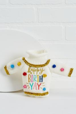 birthday sweater bottle cover